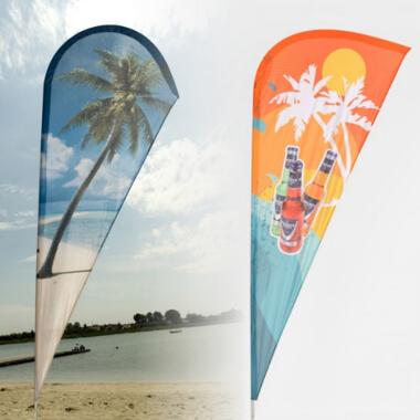Flagi plażowe